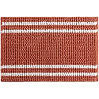 stylehouse WK682520 Striped Textured Noodle Rug with Latex Backing,Coral,20 X 30