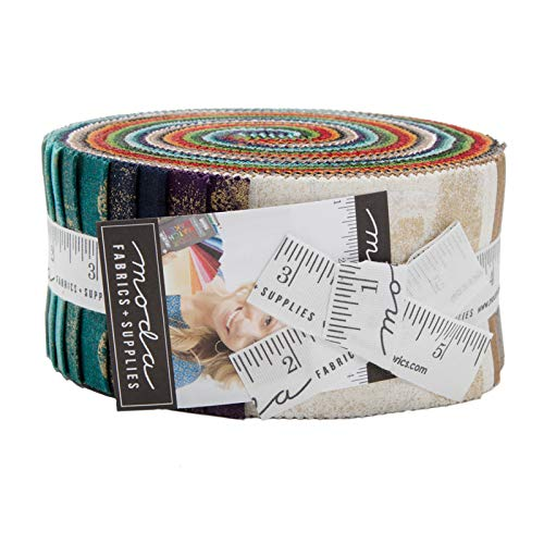Grunge Metallic Basics Jelly Roll 40 2.5-inch Strips by BasicGrey for Moda Fabrics 30150JRM by MODA