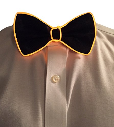 GlowTies LED Bowties Costume Accessory for Halloween / Rave Party Gear Clothing (Orange) (Burning Man Halloween Costumes)
