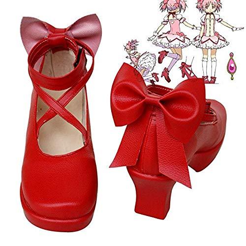 Telacos Puella Magi Madoka Magica Cosplay Shoes Boots Custom Made Red