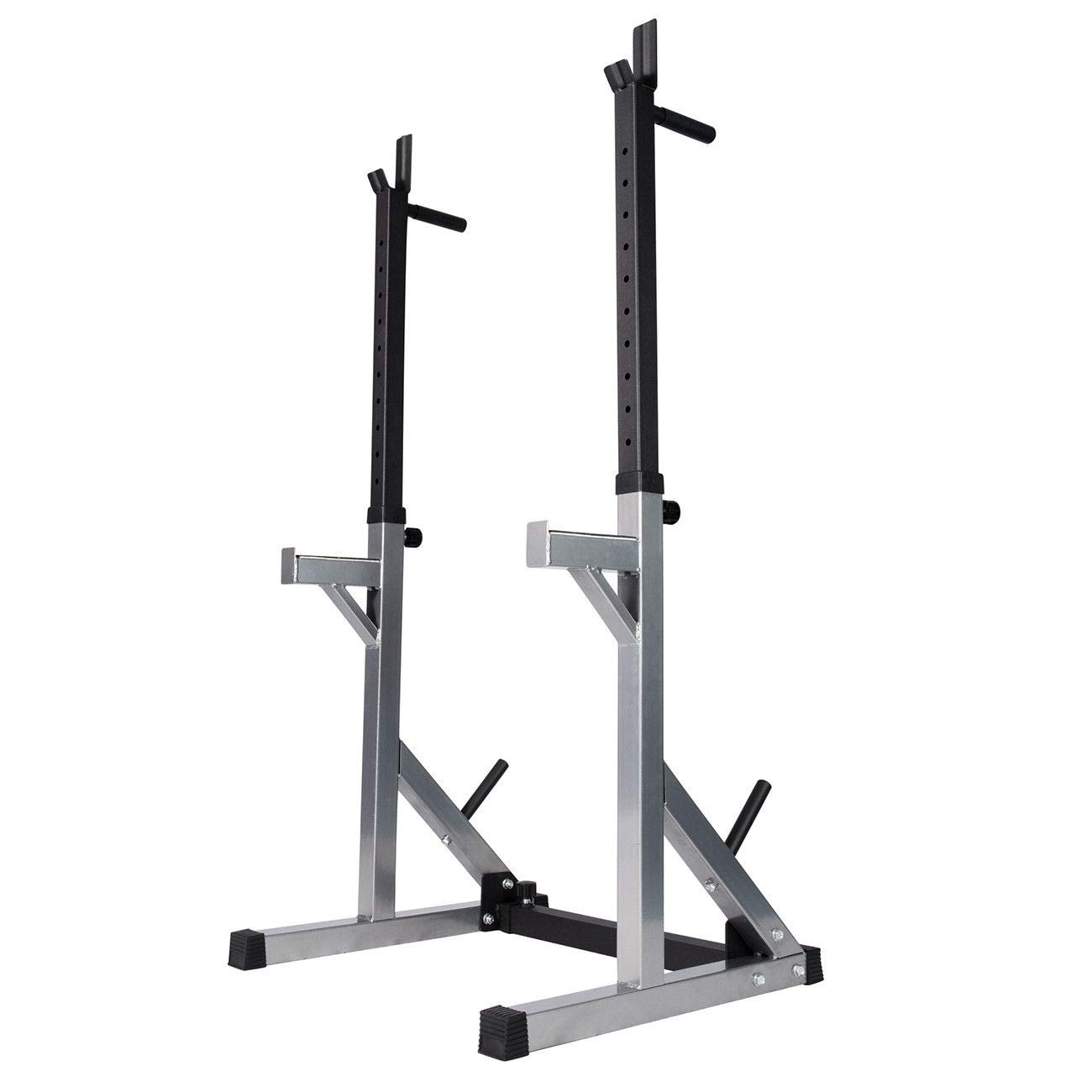 TimmyHouse Stand Weight Plate Rack Squat Rack Multifunction Barbell Bench Press Full Boday