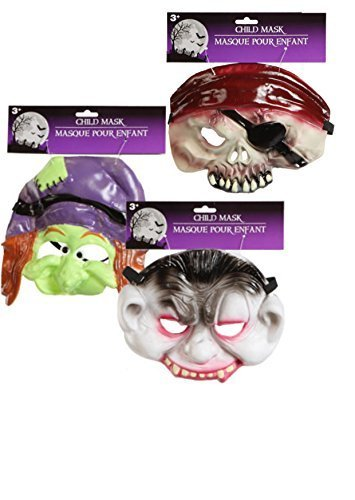 Child's Half-face Halloween Masks Choose From Vampire, Witch,