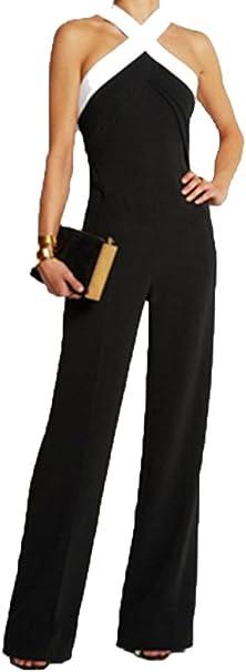 Vestiti Eleganti Con Pantalone.Ovender Tuta Donna Eleganti Con Pantaloni Lungo Vestito Abito