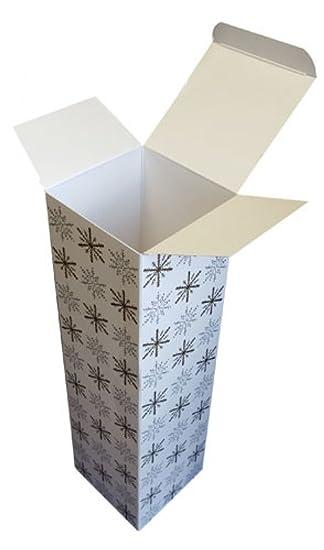 Oro Plata Copo de nieve Navidad cartón Cajas de botellas de vino cajas de regalo,