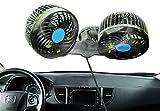 Fansport 4'' Auto Air Fan Electric Auto Fan Dual Heads Practical Auto Cooling Fan Electric Car Air Fan