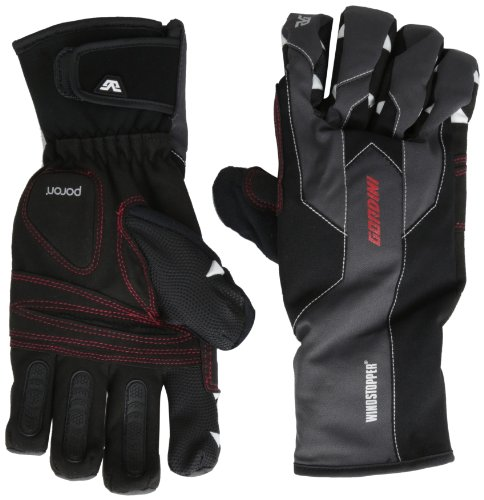 - Gordini Men's Swagger Gloves, Black/Gunmetal, Large