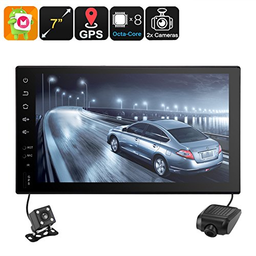 Generic 7 Inch HD Universal 2 DIN Android Car Stereo with GPS, Car DVR, Rear View Camera