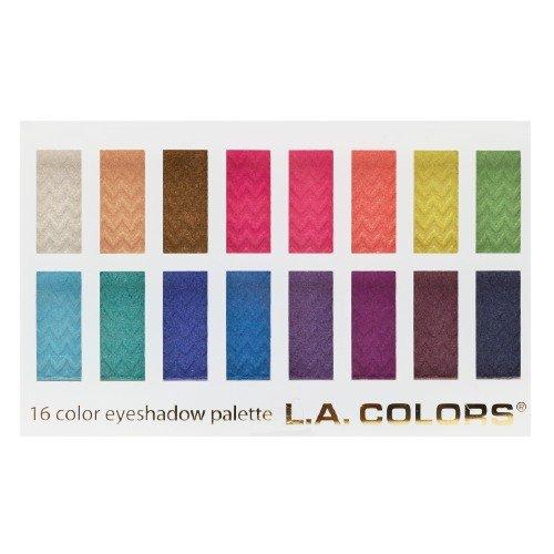 L.A. Colors 16 Color Eyeshadow Palette, Haute 0.95 oz