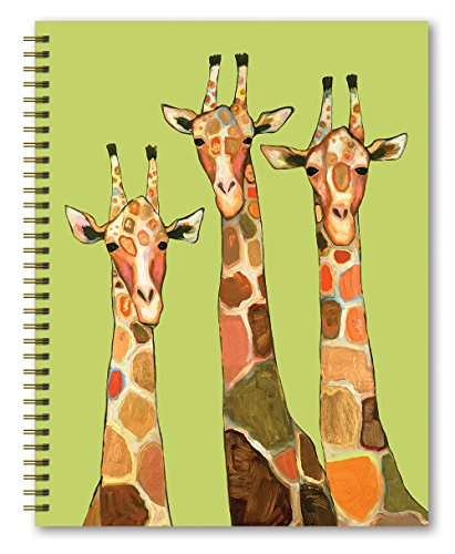 "Studio Oh! Hardcover Spiral Notebook, 8.5"" x 11"", Eli Halpin Majestic Animals, Giraffe"