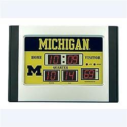 Michigan Wolverines Scoreboard Desk Clock 6.5x9 Scoreboard Desk Clock- U of Michigan - NCAA College Athletics Fan Shop Sports Team Merchandise