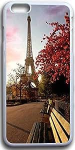 Dseason Iphone I6plus case, Slim Hard Unique Design In the evening the Eiffel Tower in Paris