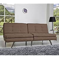 Gold Sparrow Memphis Double Cushion Futon Sofa Bed, Coffee