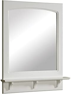 white bathroom mirror with shelf. design house 539916 24 by 31 inches concord ready-to-assemble mirror with shelf white bathroom e