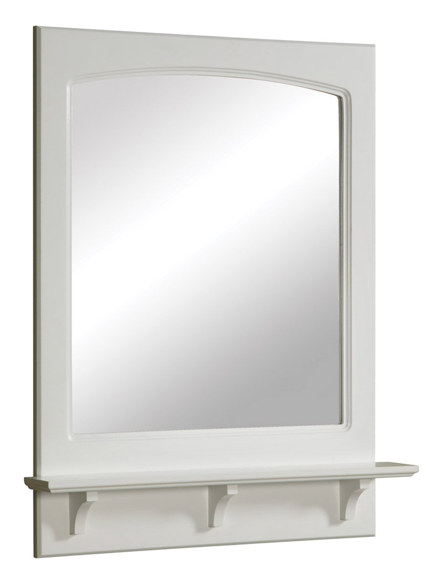 Design House 539916 24 by 31 inches Concord Ready-To-Assemble Mirror with Shelf, White by Design House (Image #1)