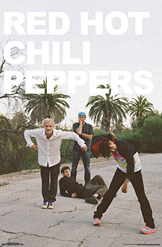 Trends International Red Hot Chili Peppers-Band Mount Bundle Wall Poster, 22.375