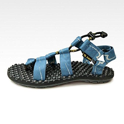 Xing Lin Flip Flop De La Playa Los Hombres Sandalias _ Verano Calzado De Playa Hombres Masajes Al Aire Libre blue