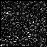 Miyuki Delica Seed Bead 11/0 DB310 , Opaque Black Matte, 9-Grams/Pack