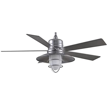 Grayton 54 in indoor outdoor galvanized ceiling fan