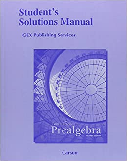Book Student Solutions Manual for Prealgebra