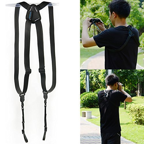 smilepowo Adjustable Binocular Strap,Binocular Harness Strap for Cameras and Rangefinders,Range Finder,SLR cameras