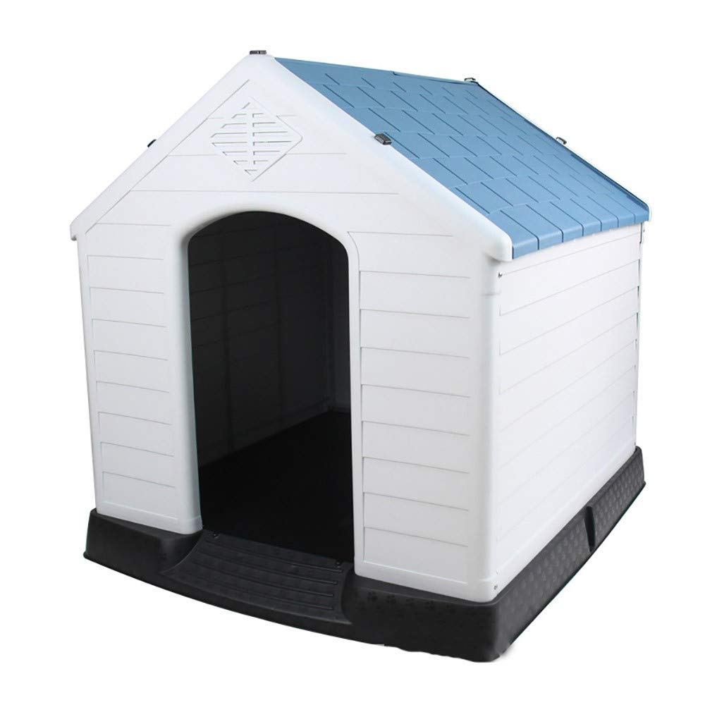 A ZMMARemovable large plastic kennel and large pet kennel house in summer,bluee,A