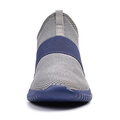 Scarpe Sportive Grigio Lacci Senza Uomo da Blu On Corsa Esterno Scarpe da Slip QANSI FxSwqYafS