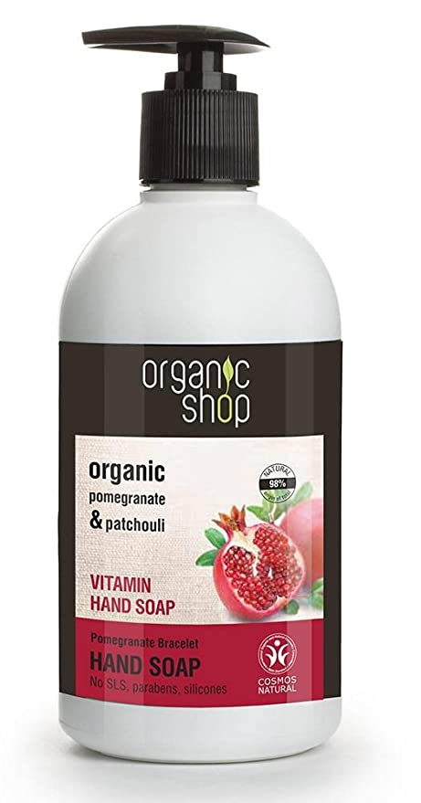 ORGANIC SHOP - Jabón de manos con vitaminas Pulsera de granada - Humedece tus manos -
