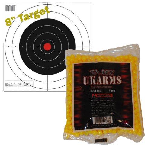 6mm Yellow Soft Air Ammo - *Yellow* 1000 Precision Shot AIRSOFT BBs .12g 6mm Pistol Gun Sniper Rifle AMMO