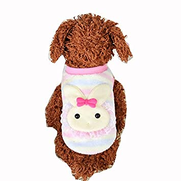 9f25f2b1b975 Amazon.com : MD New Cute Baby Pet Clothes Teacup Dogs Clothing Puppy Winter  Warm Sweaters (XXS, Pink) : Pet Supplies