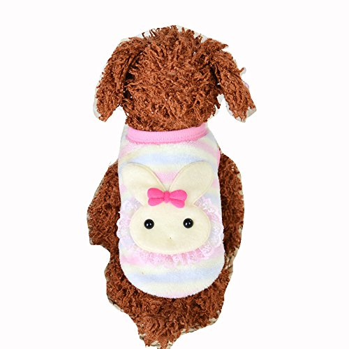 MD New Cute Baby Pet Clothes Teacup Dogs Clothing Puppy Winter Warm Thick Sweaters (XXXS, Pink)