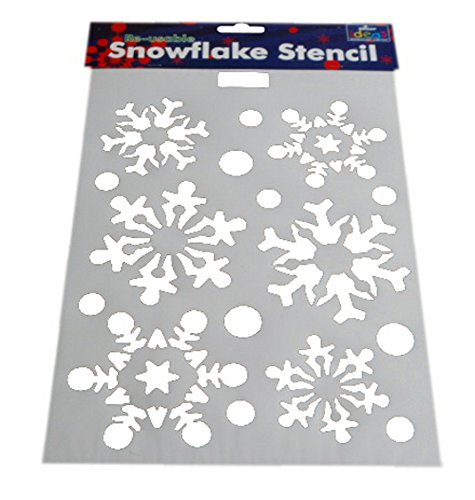 21cm x 30cm re usable christmas snowflake pattern stenciltemplate amazoncouk kitchen home