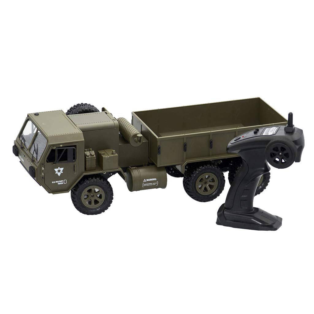 Binory Fayee FY004A 2.4G 1/16 6WD Off-Road Climbing RC Car US Military Truck RTR,US Fast Shippment Remote Control Climbing Car RC Racing Vehicle Model for Kids Adults Birthday Gift Auto Collection
