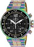 Invicta 25078 Grand Pro Diver 52mm Quartz Gunmetal Dial Black Silicone Strap Watch