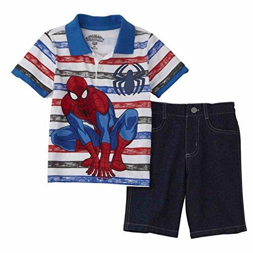 Marvel Comics Infant Boys Ultimate Spiderman Polo Shirt & Shorts Set 12 Months