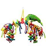 Eternal-you Parrot, Toy Bird, Toy Parrot, Colorful Wood, Gnawing Toys 242g