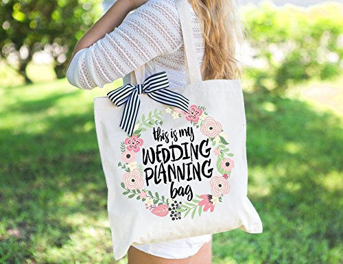 Wedding Planning Tote Bag Gift for Bride to Be, Bridal Shower or Engagement Gift for Bride or Friend Wedding Bag (Wedding Tote)