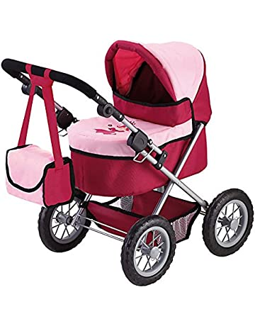 Bayer Design Cochecito de muñeca, Trendy Color rojo, rosa 13014