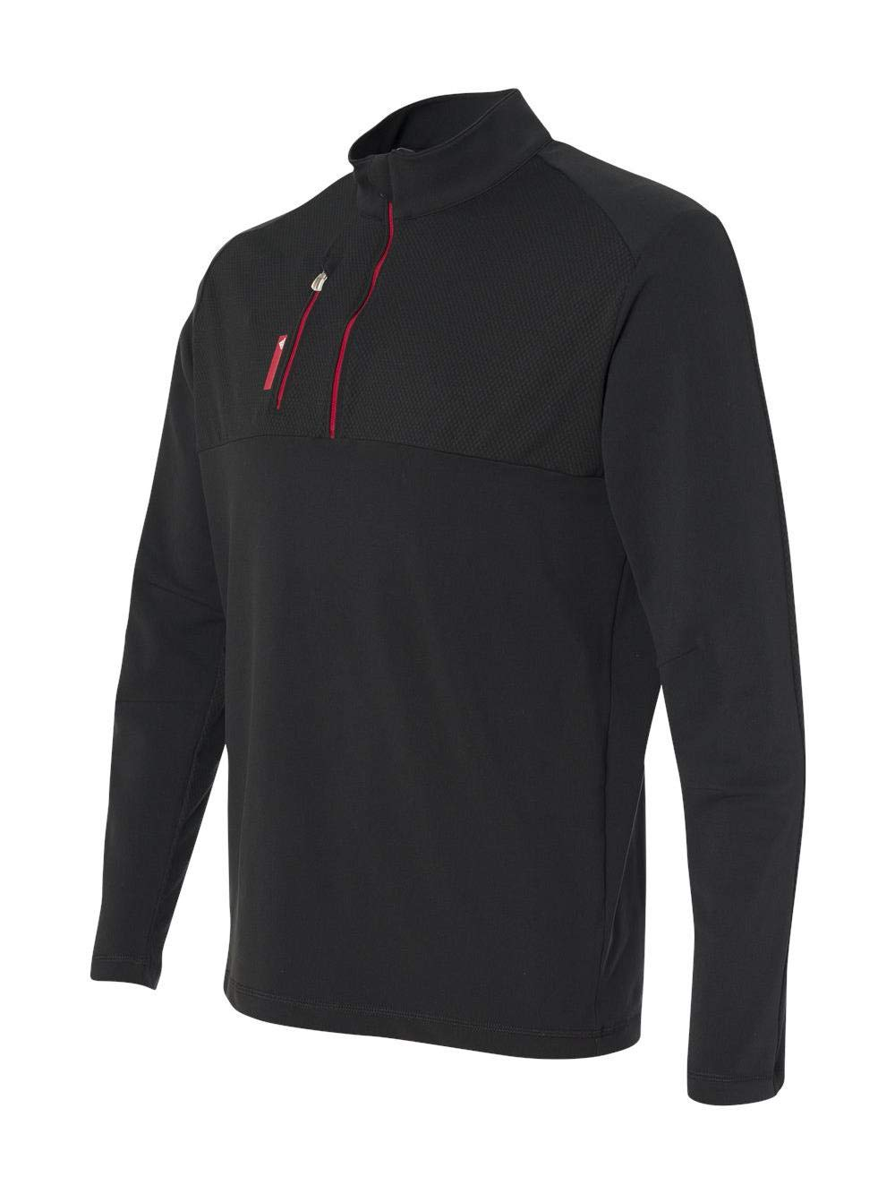 adidas Golf Mens Puremotion Mixed Media Quarter-Zip (A195) -Black/Bold -M