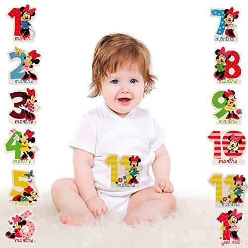 Amazon.com: Disney niñas Minnie Mouse bebé mensual Milestone ...