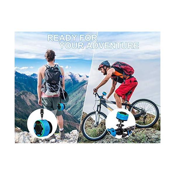 Enceinte Bluetooth, moosen IPX7 étanche Portable sans Fil Haut-Parleur Bluetooth avec FM Radio, LED Display, TWS and Light Show, Waterproof Shower Speaker pour Salle de Bains Pool Plage Outdoor 7