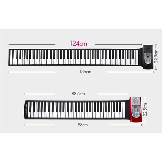 ... enrollable digital Piano con salida MIDI USB Grabación Programación Reproducción Tutorial Mantener funciones de vib: Amazon.es: Instrumentos musicales