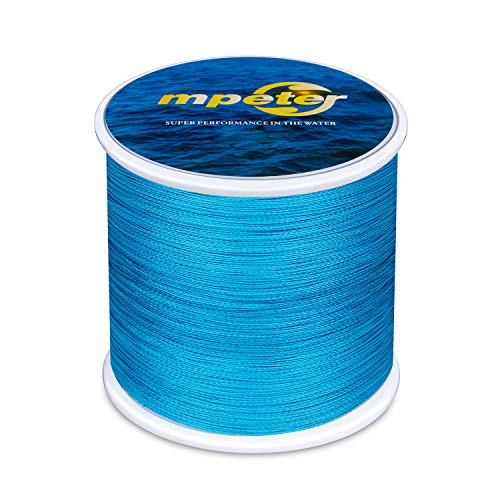 mpeter Armor Braided Fishing Line, Abrasion Resistant Braided Lines, High Sensitivity and Zero Stretch, 4 Strands to 8 Strands with Smaller -