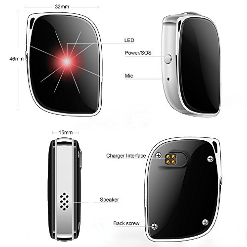 GPS Tracker, JIALEKANG Multimode Precise Positioning( GPS + WIFI + LBS) Tracking for Elder People/Children/Pets, Real time Call Function, 5 Days Working Time, High Waterproof Level IP67