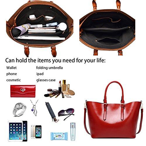 Borsa donna di grande bag Fashion Tote Shopping capacità Borsa a Tisdaini a tracolla da Rosso Nuovi spalla Borse bag qxw40ntpv