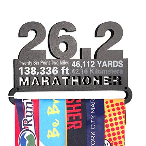 Gone For a Run | Runner's Race Medal Hanger | 26.2 Math Miles