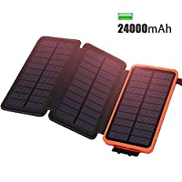Solar Charger 24000mAh ADDTOP Waterproof...