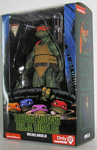 Teenage Mutant Ninja Turtles 90's Movie Michelangelo 6.5-inch Action Figure by NECA Reel Toys 2019 GameStop Exclusive ()