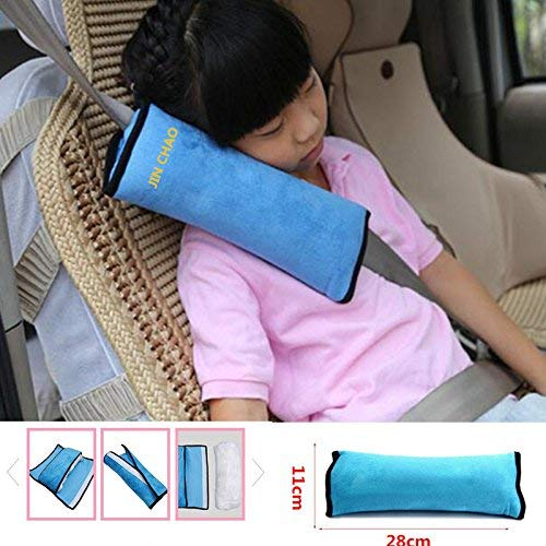 Childs Auto Pillow Car Safety Belt Protect Shoulder Pad Vehicle Seat Belt Cushion Soft Neck Sleep Pillow for Kids Children Adult Blue from Millys Store