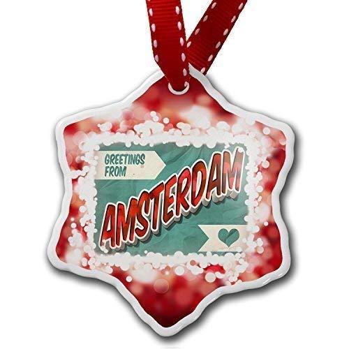 Halloween 2019 Amsterdam (TIFA-LOVE Christmas OrnamentsGreetings from Amsterdam Vintage Postcard Red Christmas)