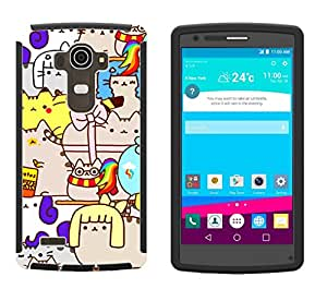 1004 - cool fun cute kittens cat naughty pets funny cartoon illustration feline love Design LG G3 Full Body CASE With Build in Screen Protector Rubber Defender Shockproof Heavy Duty Builders Protective Cover